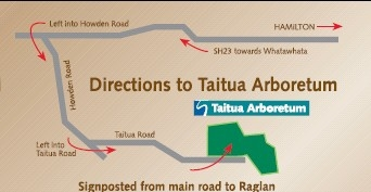 directions map to taitua arboretum.