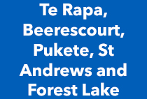 Te Rapa, Beerestcourt, Pukete, St Andrews and Forest Lake